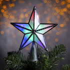 """The figure of the """"star of the silver. Christmas"""" 15X15 cm, plastic, 10 LED, 2 meter cord,240V MULTI"""