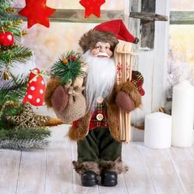 """Дед Мороз """"С мешком и лыжами"""" 30 см"""
