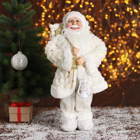 """Дед Мороз """"В белой шубке, с подарками"""" 45 см"""