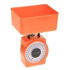 Весы кухонные LuazON, до 1 кг, шаг 20 г, чаша 400 мл, плотный пластик, оранжевые
