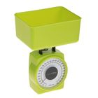 Весы кухонные LuazON, до 1 кг, шаг 20 г, чаша 400 мл, плотный пластик, зеленые