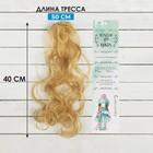 """Волосы - тресс для кукол """"Кудри"""" длина волос 40 см, ширина 50 см, №15"""