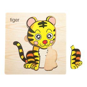 Пазл-вкладыш на деревянном основании 'Тигр' Ош