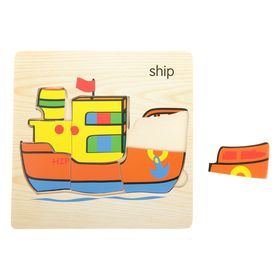 Пазл-вкладыш на деревянном основании 'Корабль' Ош