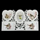 """Wall clock, series: Photo """"Family"""", white hearts, 4 frames, 50х30 cm, mix"""