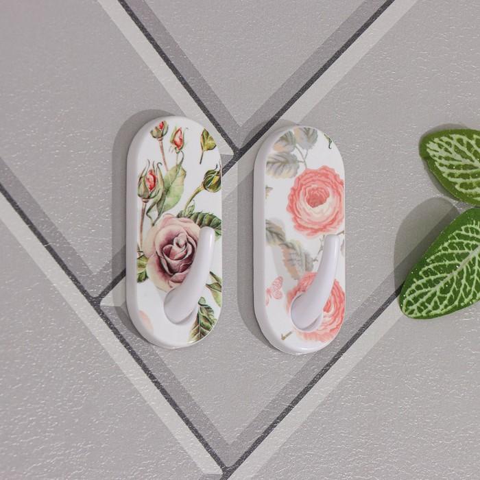 "A set of hooks on the Velcro ""Flowers"", 2 PCs, MIX color"