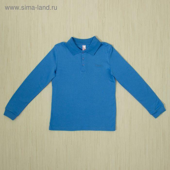 Рубашка-поло для мальчика, рост 128 см, цвет голубой CAJ 61374