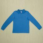 Рубашка-поло для мальчика, рост 152 см, цвет голубой