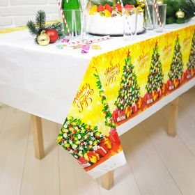 "Tablecloth ""happy New Year""tree, 180 x 137cm"