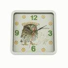 """Часы настенные, серия: Животный мир, """"Сова в шляпке"""", 21.5х21.5 см"""