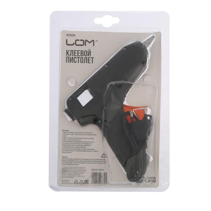Клеевой пистолет LOM 40 Вт, 220 В , 11 мм