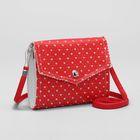 Bag children, 2 Department flap, long strap, color red