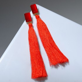 """Earrings assorted """"Brush"""" a vivid image, rectangle, color Burgundy gold"""