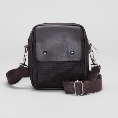 b63f8dca0279 Сумка мужская поясная, 1 отдел, наружный карман, регулируемый ремень, цвет  коричневый
