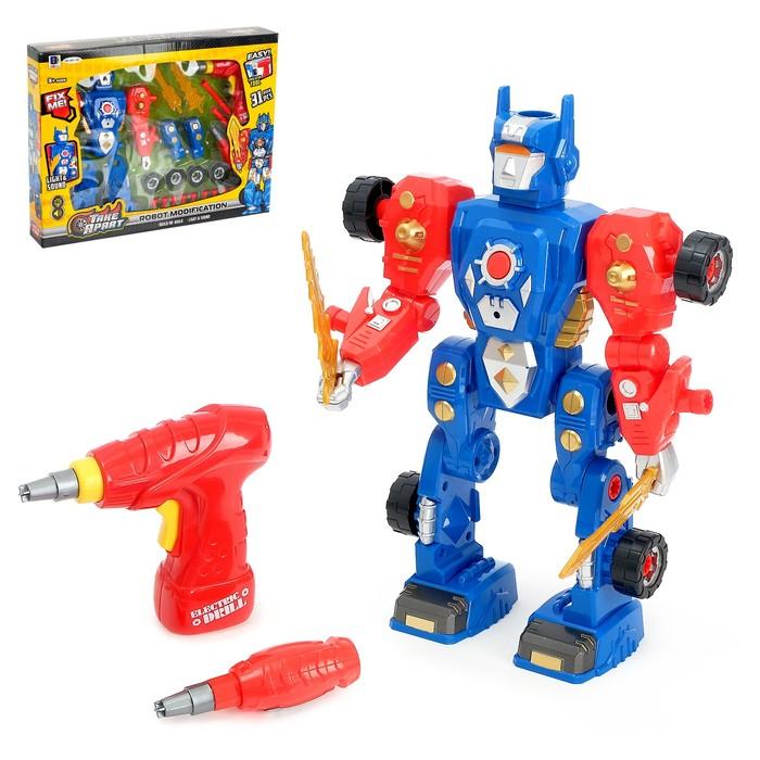 """Конструктор """"Робот"""", 2 в 1, с электрическим шуруповёртом, 31 деталь"""