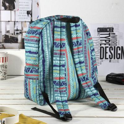 Рюкзак на молнии, 1 отдел, наружный карман, цвет бирюзовый