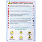 """Training poster """"safety Rules for chemistry class"""" A2"""