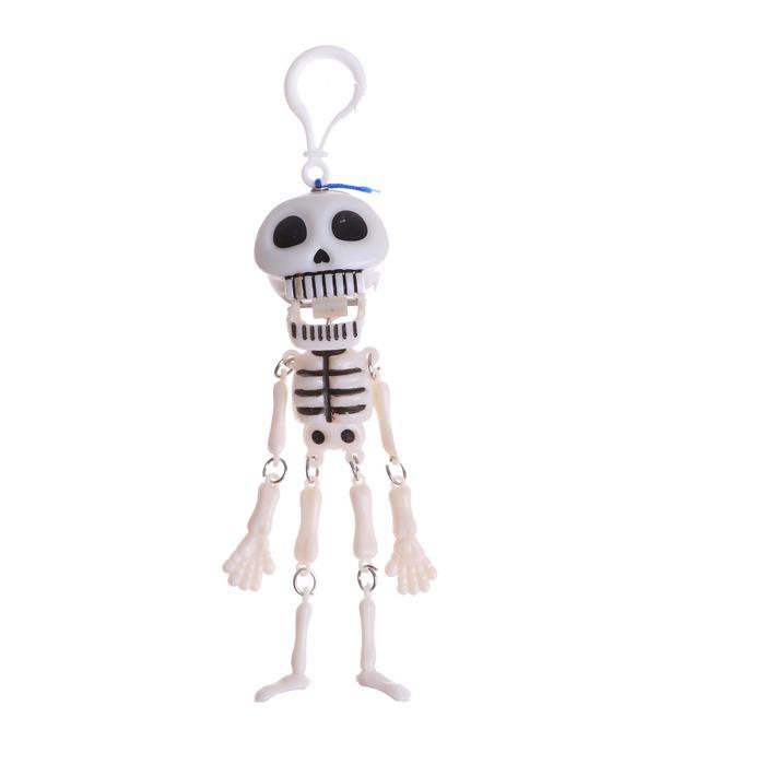 Подвеска скелет белый с черными глазами