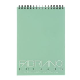 Блокнот для рисунков А4, 100 листов на спирали Fabriano Writing Colors, 80 г/м², аквамарин