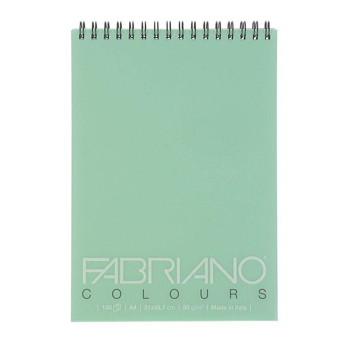 Альбом для Графики А4 Fabriano Writing Colors 100л 80г/м2 спираль, аквамарин 42129703