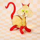 """Сувенир из стекла миди """"Кот"""", микс, 3 х 9 х 9 см"""