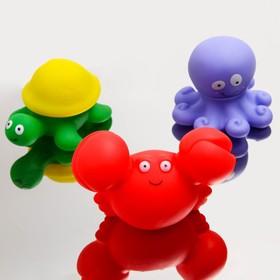Игрушка-пазл для ванны «Морские жители», набор 3 шт.