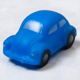 Резиновая игрушка для игры в ванной  «Машинка», с пищалкой, цвет МИКС