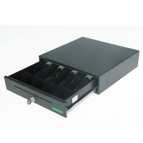 Денежный ящик ШТРИХ-miniCD, 4 отделения для банкнот, 5 отделений для монет, цвет чёрный