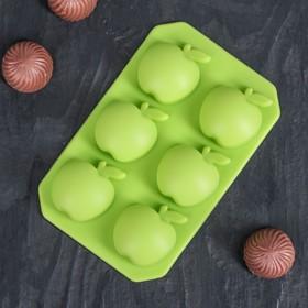 """Форма для льда и шоколада """"Яблоко"""", 6 ячеек, цвета МИКС"""