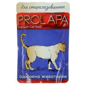 Влажный корм Prolapa Premium для стерилизованных кошек, пауч, 100 г Ош