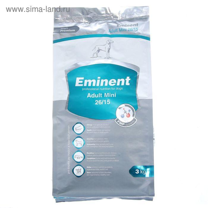 Сухой корм Eminent Adult Mini 26/15 для собак мелких пород, 3 кг