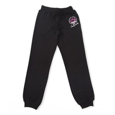 Брюки спортивные для девочки, рост 152 см, цвет чёрный CAJ 7590