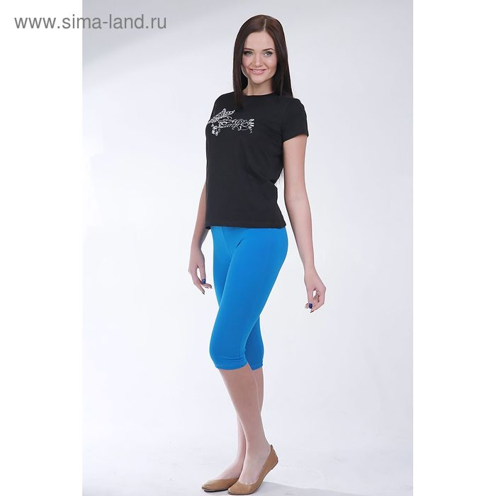 Легинсы женские 8466 цвет синий, размер 60