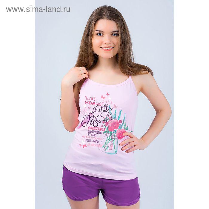 Комплект женский (майка, шорты) 8865 цвет фиолетовый, р-р 42