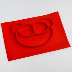Тарелка детская «Мишутка», силиконовая, антискользящая, цвета МИКС