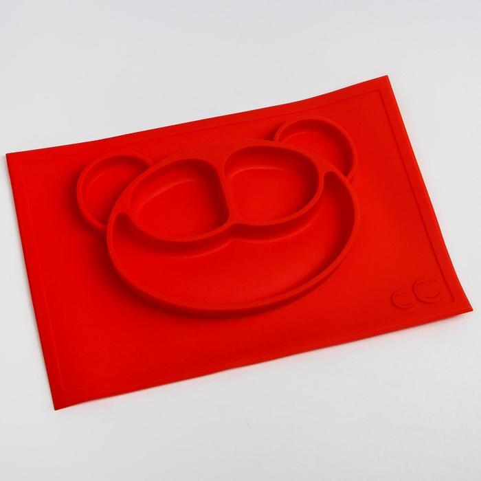 Тарелка детская «Мишутка», силиконовая, антискользящая, цвета МИКС - фото 105461383