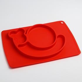Тарелка детская «Улитка», силиконовая, антискользящая, цвета МИКС