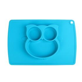 Тарелка детская «Сова», силиконовая, антискользящая, цвет МИКС