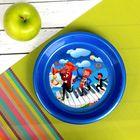 Тарелка детская, диаметр 14 см, высота 2,5 см, пластиковая с рисунком, цвета МИКС