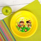 Тарелка детская, диаметр 15,5 см, высота 3,5 см, пластиковая с рисунком, цвета МИКС