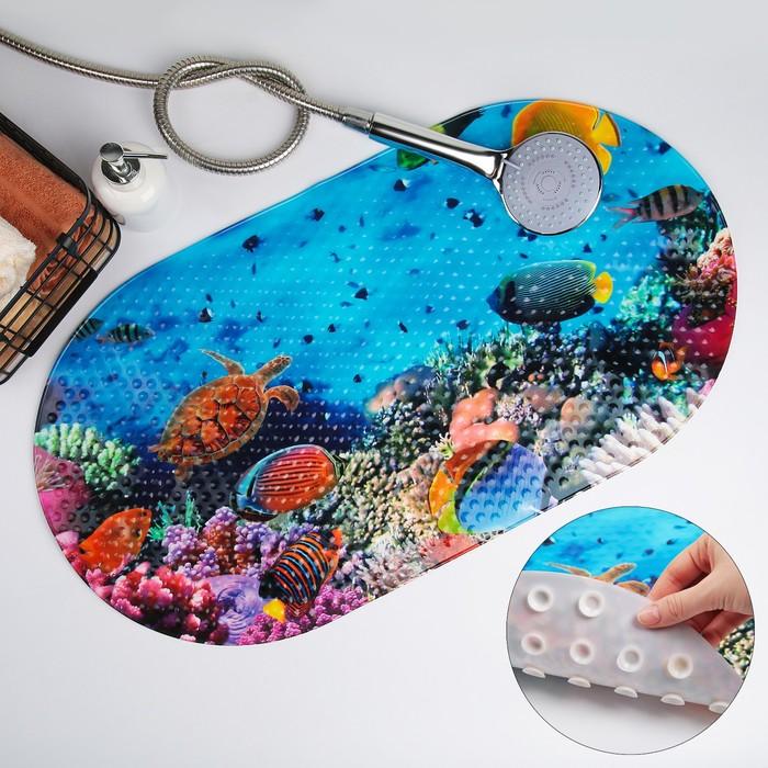 Коврик для ванны «Морское дно», 38×68 см