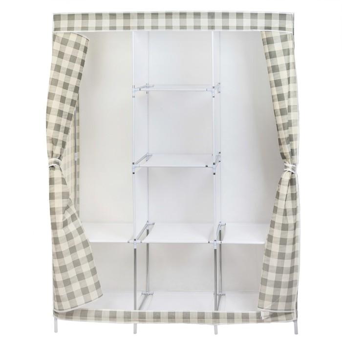 Шкаф для одежды 130х45х175 см, клетка