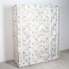 Wardrobe 130×45×175 cm Roses, white