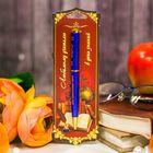 """Ручка металлическая """"Любимому учителю в день знаний"""", на открытке"""