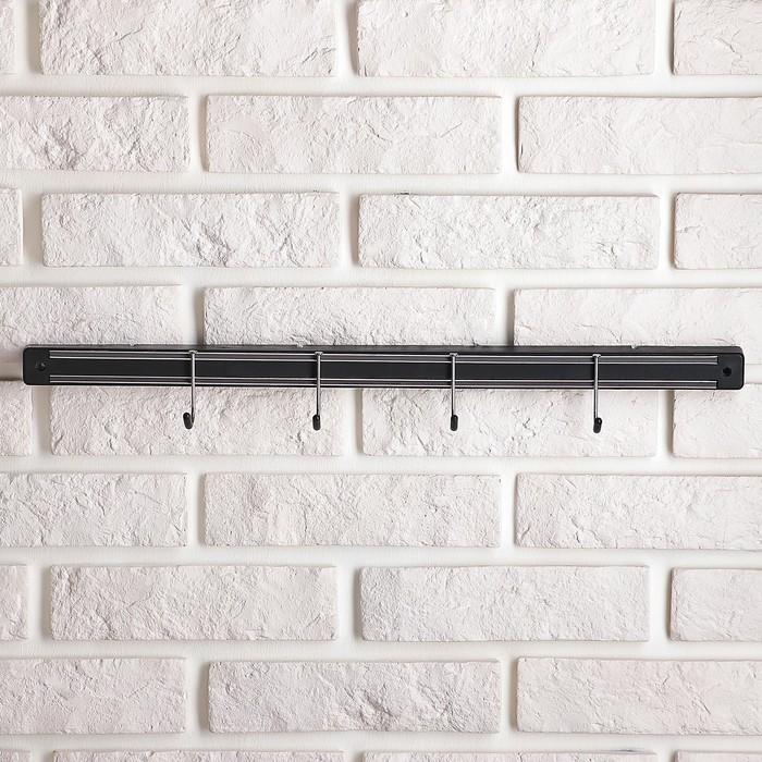 Держатель для ножей магнитный с крючками 51 см