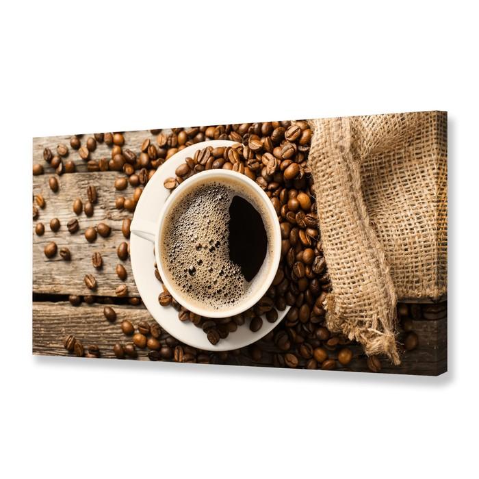 """Картина на холсте """"Утренний кофе"""" 50х100 см"""