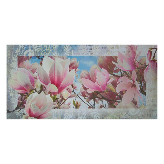 "Картина на холсте ""Нежные цветы"" 50х100 см - фото 1728583"