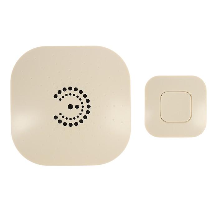 Звонок ЭРА BIONIC Ivory беспроводной, 6 мелодий, до 100м., IP44, от 2 Х АА (не в комплекте)