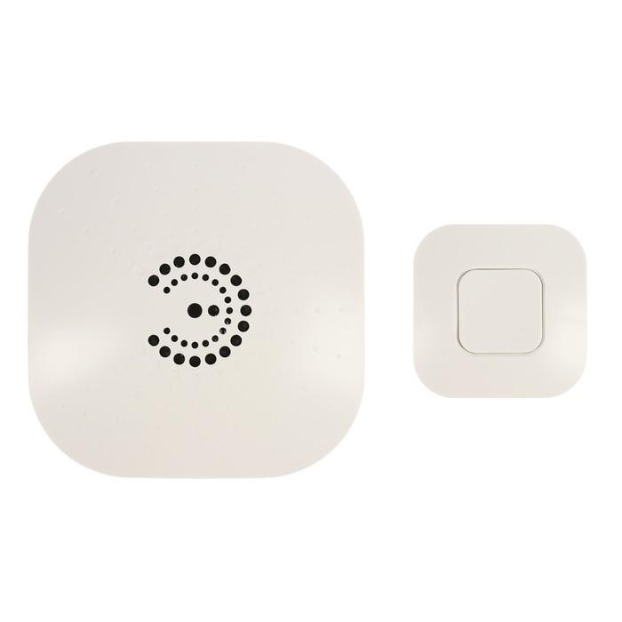 Звонок ЭРА BIONIC White беспроводной, 6 мелодий, до 100м., IP44, от 2 Х АА (не в комплекте)