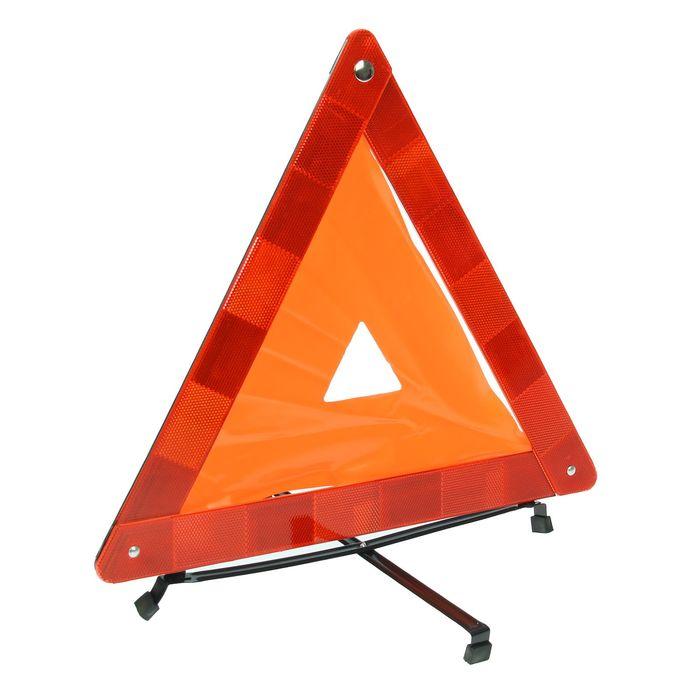Знак аварийной остановки, с мягкой флюоресцирующей полосой, в чехле